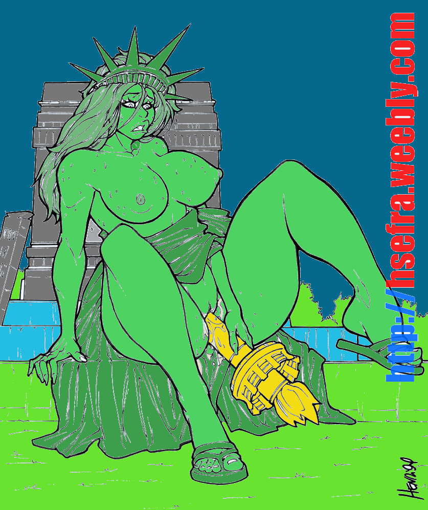 lady kissing justice statue of liberty Daily life of a pervert