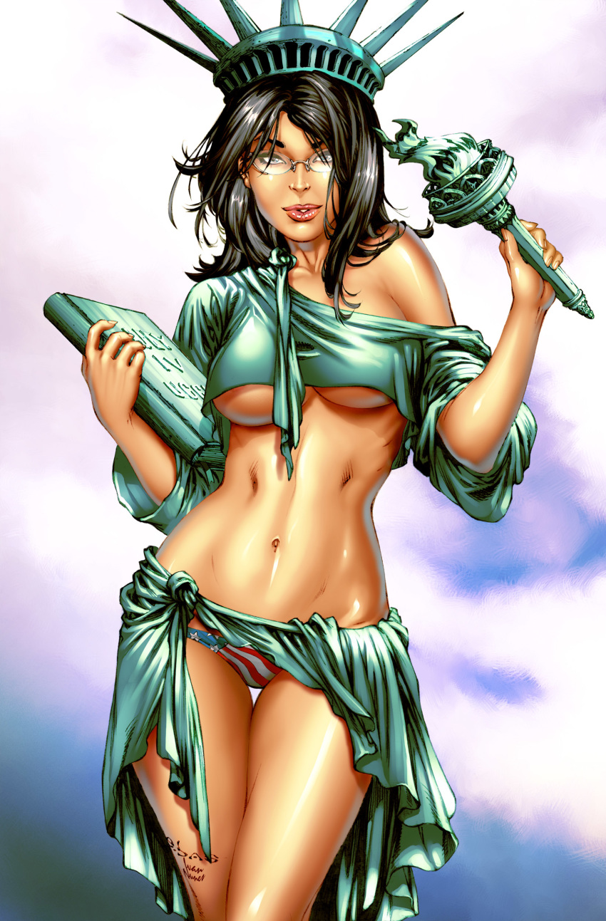lady justice statue kissing liberty of Saints row the third zimos