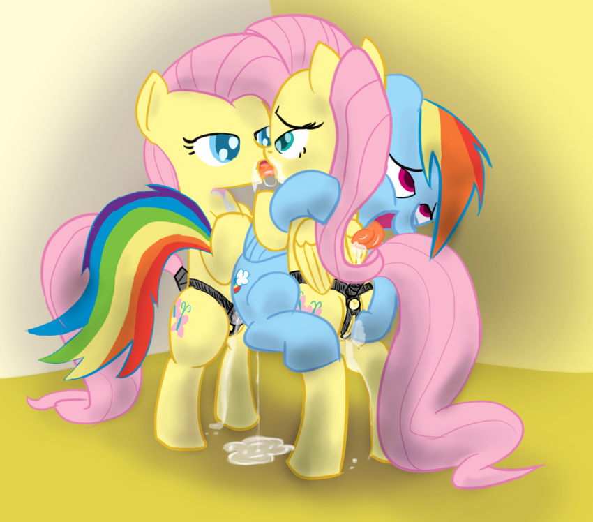 twilight dash and rainbow kissing Sonic and amy in bed