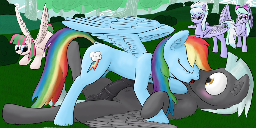 rainbow kissing twilight and dash Spark a space tail vix